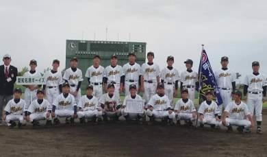 第8回日本少年野球北陸1年生大会、準優勝‼